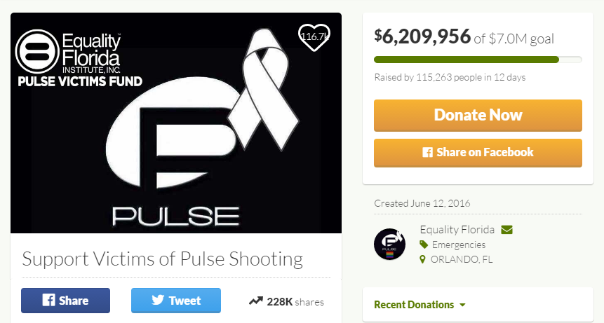 Pulse Victims Fund GoFundMe