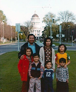 Toan Lam as a child with his family